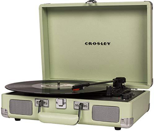 Crosley Cruiser Deluxe Vintage 3-Speed Bluetooth Suitcase Turntable, Mint