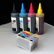 Green-Products Refillable cartridges #200 T200 with 400ml ink Compatible with Epson expression XP-200 xp-300 xp-310 xp-400 xp-410 workforce wf-2530 wf-2540