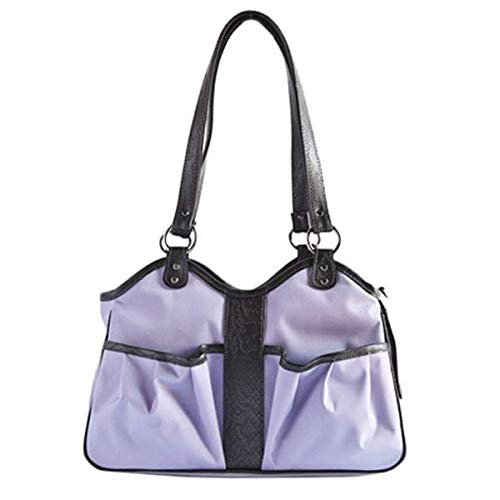 Petote Metro Dog Carrier Bags with 2 Open Pockets, Lilac, - Dog Carriers Petote