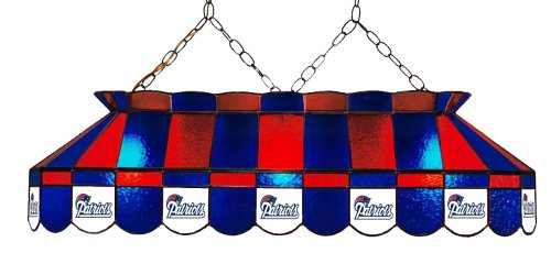 Imperial Officially Licensed NFL Merchandise: Tiffany-Style Stained Glass Billiard/Pool Table Light, New England Patriots