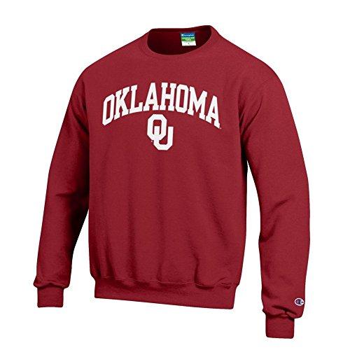 Oklahoma Sooners Mens Sweatshirts - Elite Fan Shop NCAA Oklahoma Sooners Men's Team Color Crewneck Sweatshirt, Cardinal, Large