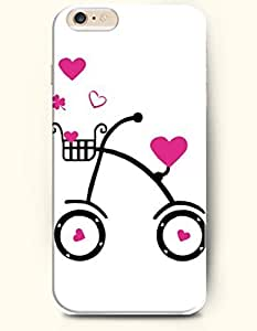 OFFIT iPhone 6 Plus Case 5.5 Inches Bike and Love