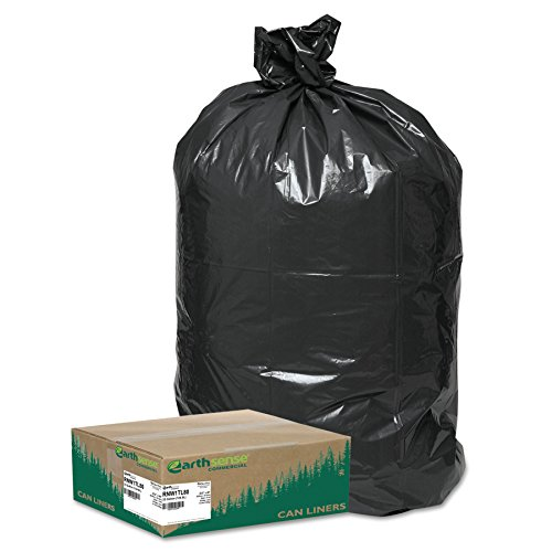 - Earthsense Commercial RNW1TL80 Recycled Large Trash and Yard Bags, 33gal.9mil, 32.5 x 40, Black (Case of 80)