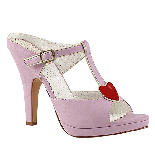 Pin Up Couture SIREN-09 Lavender Faux Leather UK 8 (EU 41 )