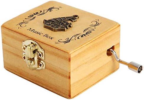 Caja de música, Jarchii Caja Musical, Caja Musical de Madera Vintage Decoración de Metal Manivela Caja de música Gran Regalo para cumpleaños Navidad San Valentín(#4): Amazon.es: Hogar