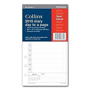 Collins PR2100-15 - Recambio para agenda de 2015 (vista diaria)
