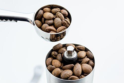 MANUAL CONICAL BURR COFFEE GRINDER – slim design, ceramic, stainless steel, Adjustable grinder for varied coarseness of beans by Tru-Type (Image #3)
