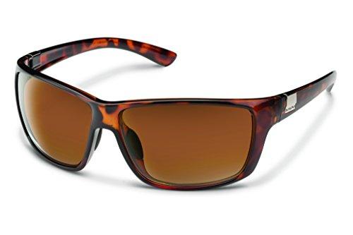 Suncloud Councilman Polarized Sunglasses, Tortoise Frame, Brown Lens