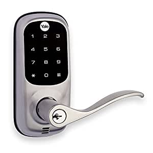 Yale Real Living Keyed Touchscreen Lever with Z-Wave - Works with Amazon Alexa via SmartThings and Wink - Satin Nickel (YRL220ZW619)