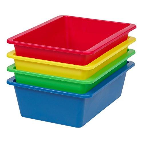 (IRIS USA, Inc. THR-L Large Multi-Purpose Plastic Bins, Primary, 4 Pack)