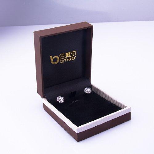 Bamoer Earrings Big Deal !! Luxury Champagne Gold AAA Color Zircon Cz White Crystal Flower Wedding Earrings Woman Lady Stud Earring Fashion Drop Dangle Jewelry Gift