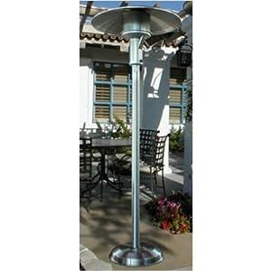 SunGlo   A242   Permanent Installation Natural Gas Infrared Patio Heater    Black   50k BTU