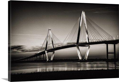 Arthur Ravenel Bridge (Scott Stulberg Premium Thick-Wrap Canvas Wall Art Print entitled Arthur Ravenel Jr. Bridge crossing the Cooper River at twilight)