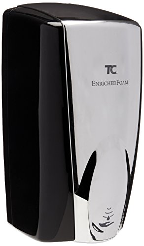 Technical Concepts #750411 Wall Mount Auto Foam Dispenser, 1100 mL, Black/Chrome, 5.25'' Length x 5.18'' Width x 10.86'' Height by Technical Concepts (Image #1)