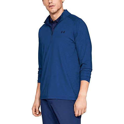 (Under Armour Men's Playoff ¼ Zip Sweatshirt, Royal (400)/Academy, Medium)