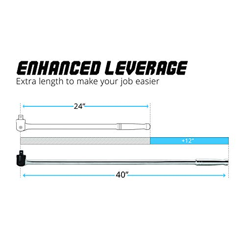 Capri Tools 1 in. Drive 40 in. Extended Leverage Breaker Bar by Capri Tools (Image #1)