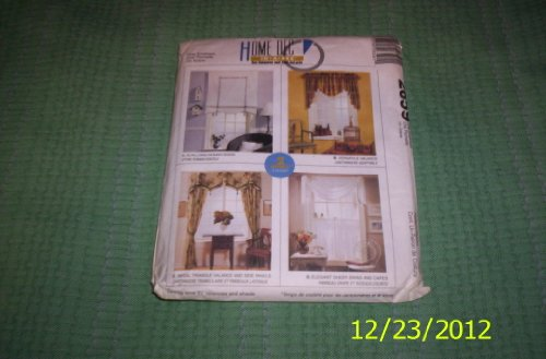 McCall's 2659 Sewing Pattern Window Shade Valance Panels Swag Cafe Curtains