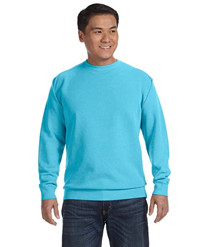 (Comfort Colors Garment-Dyed Crew Sweatshirt. 1566 Lagoon Blue S)