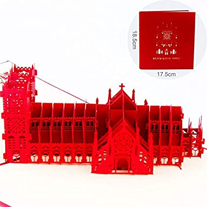 njiaomeibaihu Tarjetas de pop-Westminster Abbey 3D hecho a ...