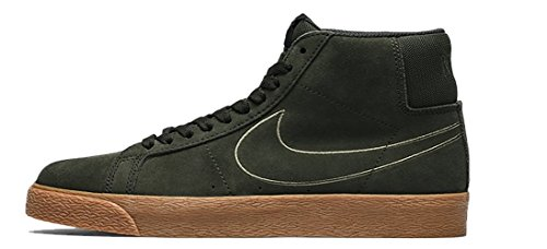 NIKE SB Zoom Blazer Mid Mens Fashion-Sneakers 864349-300_7.5 - Sequoia/Sequoia-Medium Olive-Black (Blazer Nike)