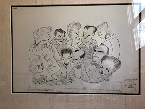 - Al Hirschfeld's INVADING HOLLYWOOD PERSONALITIES Original Pen & Ink Drawing
