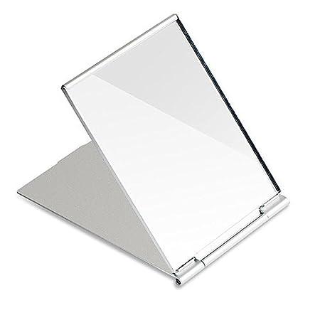 G2PLUS Miroir de poche pliable pour le rasage, le camping et le maquillage