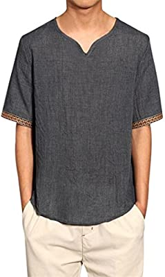 Hola aquí! Camisas de lino tradicionales para hombres Blusas ...