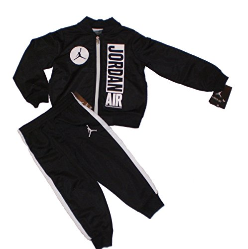 Nike Jordan Jumpman Boy Jacket Tracksuit Pants Outfit Set, Black/White, 6 (Kids Jordan Clothes)