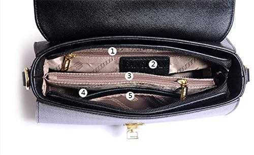 Obliqua Tracolla Colore A Affascinante Black Piccola Caramello Borse Bella Quadrata Semplice Classic Donna Singola Borsa Moda qvwxP5qT