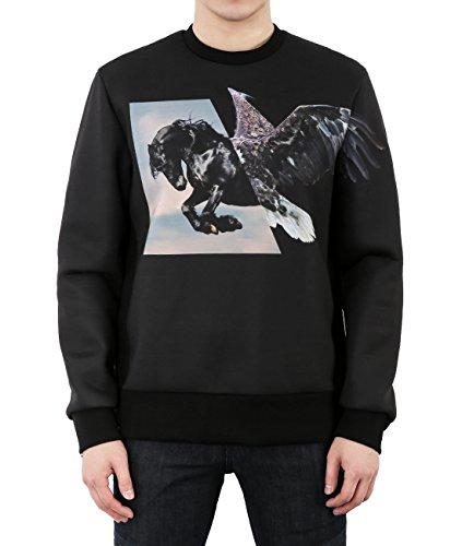 wiberlux-neil-barrett-mens-neoprene-horse-and-eagle-print-side-zip-sweatshirt-s-black