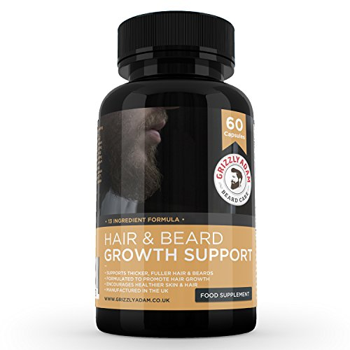 GRIZZLY ADAM Hair and Beard Growth Supplement – Vitamins For a Bigger Better Looking Beard Review