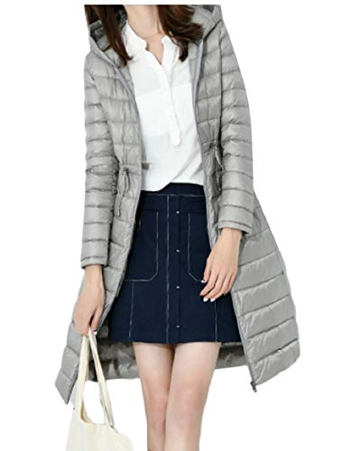 Coats Gery Hoodie Women's Down Long Jacket security Thickened Winter with Y8zzA