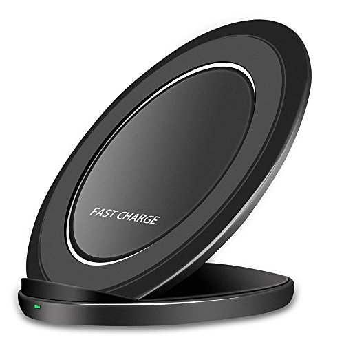 Fast Wireless Charger, VUV Quick Charge Cordless Charging Pad Stand for Samsung Galaxy S9 Plus Note 8 S8 Plus S8+ S7 Edge, Standard Charge for iPhone X iPhone 8 iPhone 8 Plus Black Cordless Phone Backup Battery