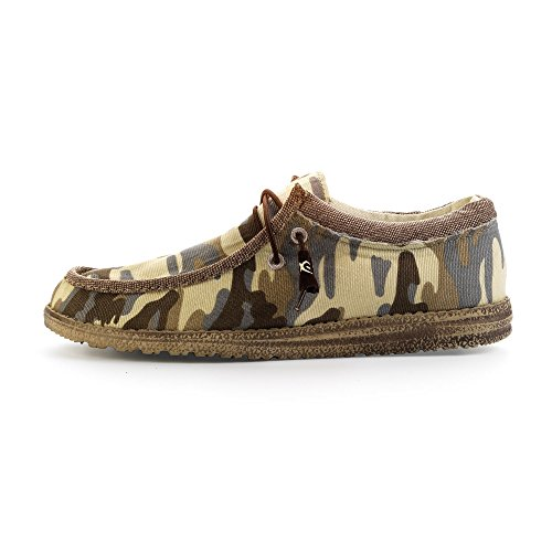 Dude Shoes Men's Wally Camo Beige Green & Multi Colour