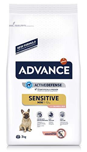 Advance Sensitive Mini – Pienso para Perros de Razas pequeñas con sensibilidades digestivas con salmón y arroz – 3 kg