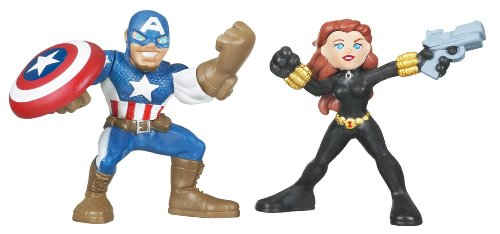 Marvel Superhero Squad Series 12 Mini 3 Inch Figure 2-Pack Captain America and Black Widow