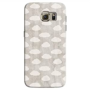 Cover It Up - Clouds Silver Sky Galaxy S7 Hard Case