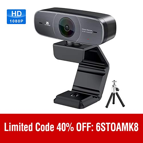 Mac Webcam, HD 1080P Webcam with Microphone for Streaming, 925A HDR USB Computer Web Camera Pro Video Cam for Mac PC Windows Skype Obs Twitch YouTube Xsplit Xbox One -Tripod included (Best Webcam For Mac)