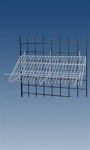 Lot of 4 New Retails White Finished Downslope Grid Shelf 24''L x 12''D x 6½â€H by Downslope Shelves