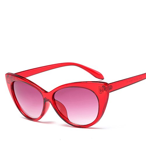 Femmeuv Demarkt Rouge Eye Rayonnement Style Fashion Protection Soleil Classiques blanc 1pcs lunettes Cat Lunettes De Rouge Sunglasses rTZrqwY