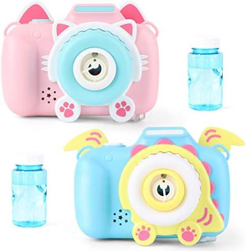 Fallve カメラ型シャボン玉 シャボン玉製造機自動シャボン玉 電動式 カメラおもちゃ 音楽機能付き LEDライト パーティー 子供のおもちゃ 誕生日プレゼント プール アウトドア