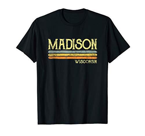 Vintage Madison Wisconsin Wi T-shirt Love Gift Souvenir