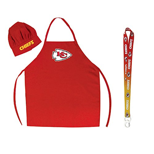 - Pro Specialties Group Kansas City Chiefs NFL Barbeque Apron and Chef's Hat with Bottle Opener