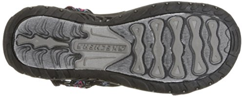 Multi Reggae Sandal Skechers Out Decked Black Women's Flat 8xqq50a