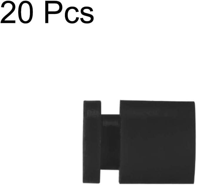 uxcell 20pcs M3X8 Rubber Damper Balls for FPV F4 F7 Flight Controller Soft Mount Shock Absorption Balls Black
