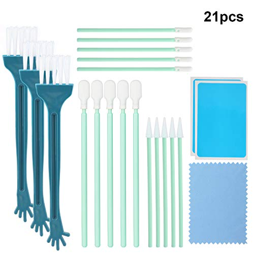 (OOTSR 21pcs Phone Port Cleaning Kit, Cleaning Swab Kit with Nylon Brushes & Dust Cloth for USB Charging Port/Headphone Jack/Camera/Keyboard/Inkjet Printer/Industrial Equipment)
