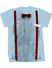 Classic Mens T-Shirt 11Th Doctor Costume Braces and Bow Tie