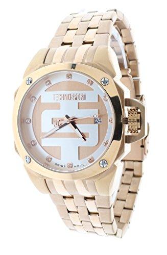 Technosport TS-102-6 Unisex Swiss Rose Gold Stainless Steel Watch