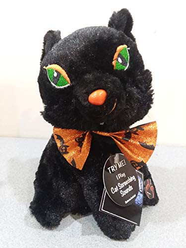 Halloween Black Cat Plush Silly & Wild Animated Dancing Swirling Screeching Sounds]()