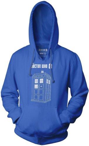 Doctor Who Series 7 Linear TARDIS Logo Adult Royal Blue Sweatshirt (Adult XXX-Large) (Tardis Sweatshirt)
